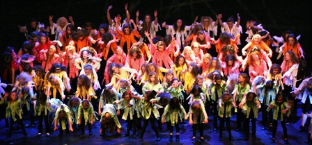 Dance school pupils on stage in finale of 2009 show